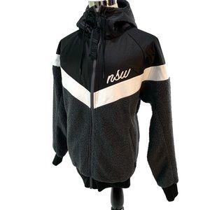 Nike NSW Sherpa Hoodie Full Zip Windrunner Jacket